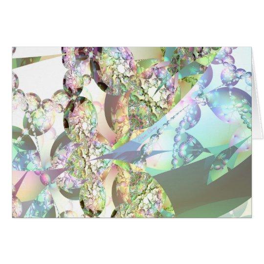 Wings of Angels – Celestite & Amethyst Crystals Card