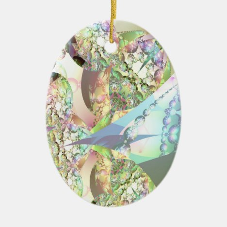 Wings of Angels – Celestite & Amethyst Crystals Ceramic Ornament
