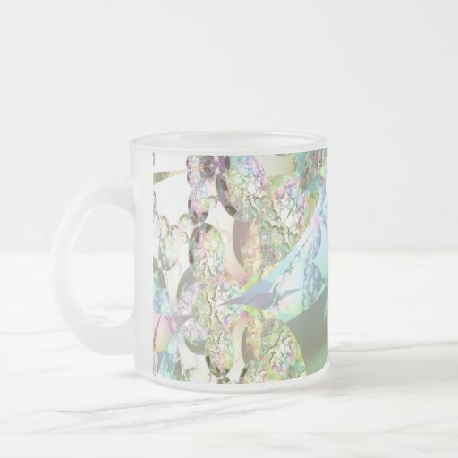 Wings of Angels – Celestite & Amethyst Crystals Frosted Glass Coffee Mug