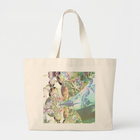 Wings of Angels – Celestite & Amethyst Crystals Large Tote Bag