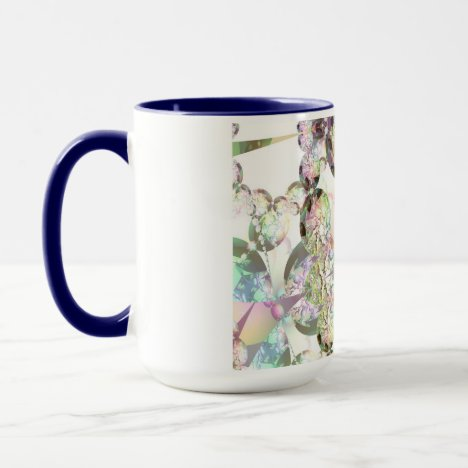 Wings of Angels – Celestite & Amethyst Crystals Mug