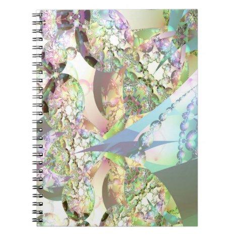 Wings of Angels – Celestite & Amethyst Crystals Notebook