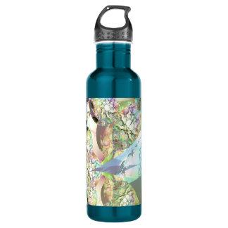 Wings of Angels – Celestite & Amethyst Crystals 24oz Water Bottle