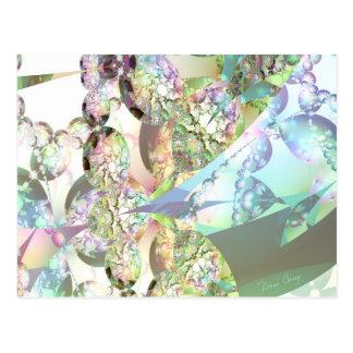 Wings of Angels – Celestite & Amethyst Crystals Postcard