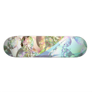 Wings of Angels – Celestite & Amethyst Crystals Skateboard Deck