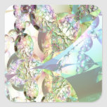 Wings of Angels – Celestite & Amethyst Crystals Square Sticker
