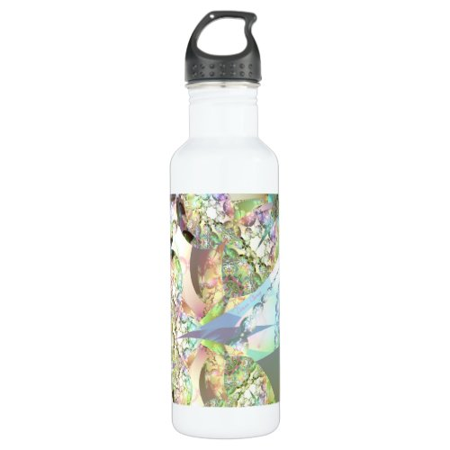 Wings of Angels – Celestite & Amethyst Crystals Stainless Steel Water Bottle