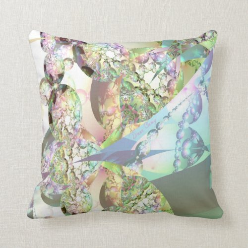 Wings of Angels – Celestite & Amethyst Crystals Throw Pillow