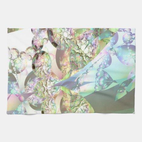 Wings of Angels – Celestite & Amethyst Crystals Towel