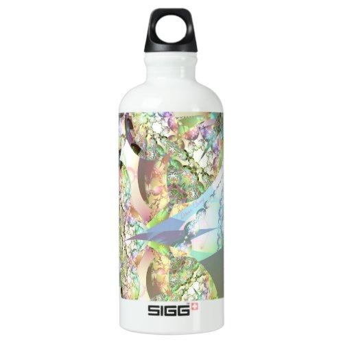 Wings of Angels – Celestite & Amethyst Crystals Water Bottle