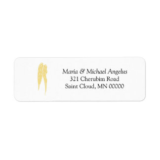 Wings of Angels Weddings Invite Labels Stickers