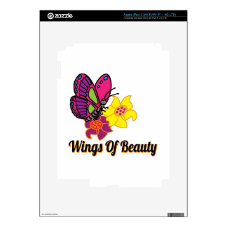 Wings Of Beauty Skin For iPad 3