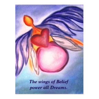 Wings of Belief postcard