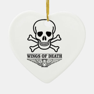 wings of death ceramic ornament