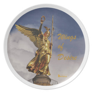 Wings of Desire - Angels of Berlin Dinner Plate