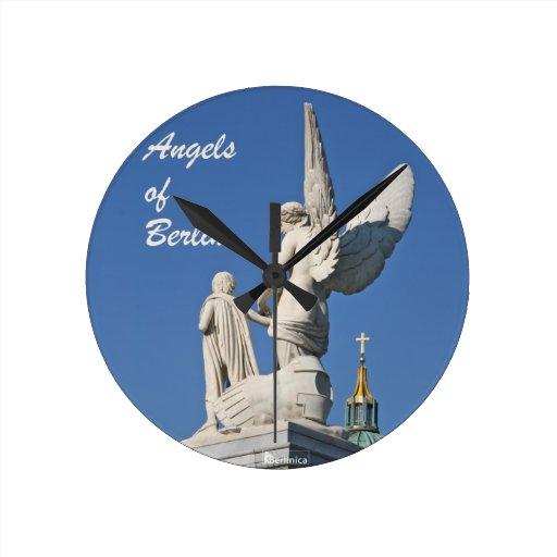 Wings of Desire —Angels of Berlin Round Clocks