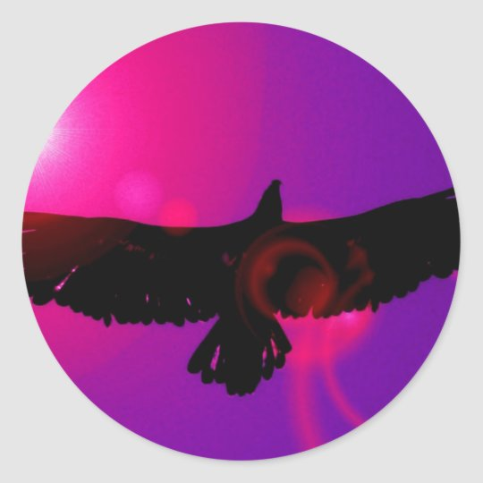 Wings of Eagle Classic Round Sticker