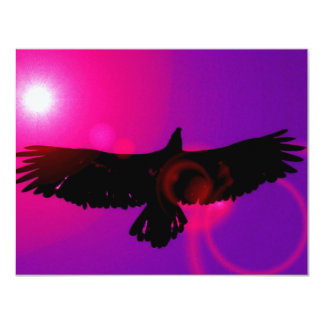 Wings of Eagle 4.25x5.5 Paper Invitation Card