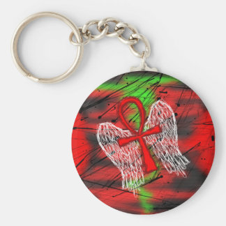 wings of eternal strife basic round button keychain