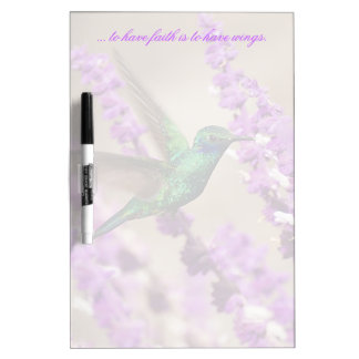 Wings of Faith Sparkling Violet-ears Hummingbird Dry-Erase Board