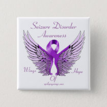 Wings of Hope 2 inch Square Button
