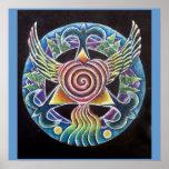 Wings of Love Mandala Poster