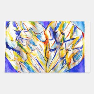 Wings of Love Rectangular Sticker