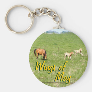 Wings of May: Horses Keychain