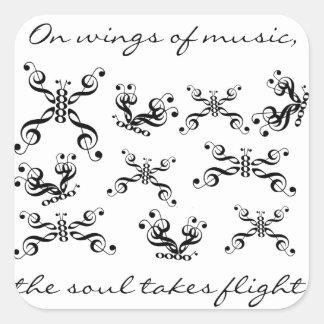 Wings of Music Sticker