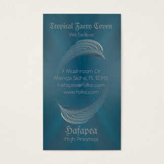 Wings of Peace Abstract Art Business Card