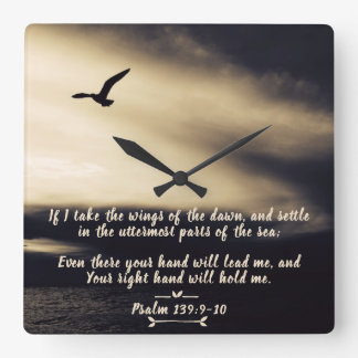 Wings Of The Dawn, LORD, Your Hand Will Lead Me Square Wall Clock