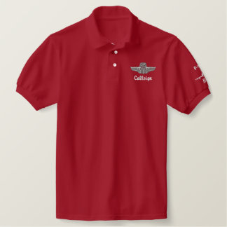 Wings on Golf Polo W/F-100 and Call Sign