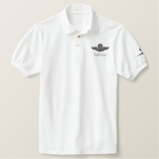 Wings on Golf Polo W/F-16 FU and Call Sign