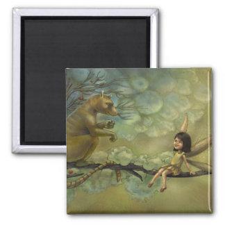 Wings or Tails Fantasy Illustration Magnet