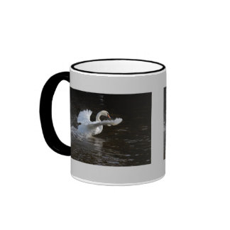 Wings Outstretched Swan Ringer Mug