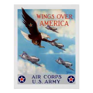 Wings Over America -- Air Corps Poster