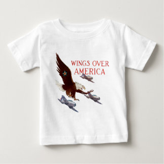 Wings Over America - USA WW2 Baby T-Shirt