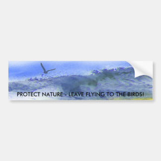 Wings over the Water | Car Bumper Sticker