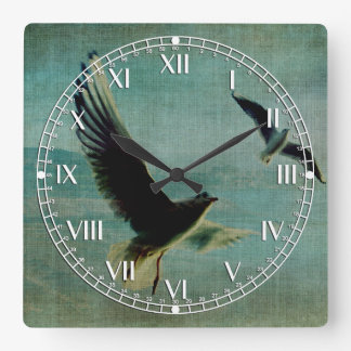 Wings over the World Square Wallclocks