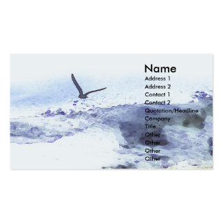 Wings over water | Watercolour Business Card