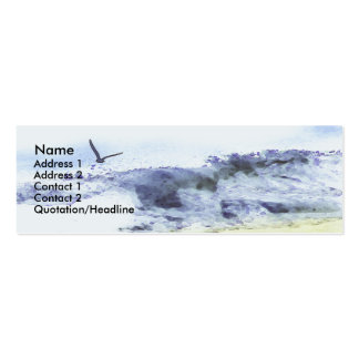 Wings over water | Watercolour Mini Business Card