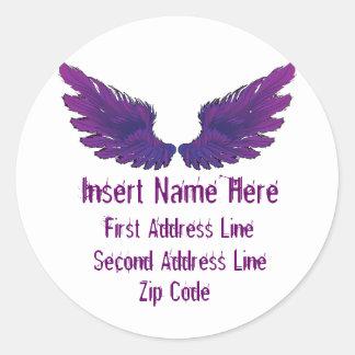 Wings Return Address Sticker