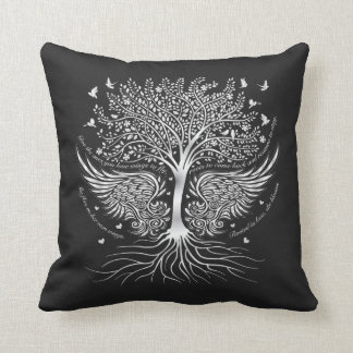 Wings To Fly and Tree with Roots Throw Pillow