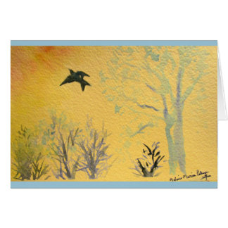 Wings to Heaven Sympathy Card