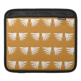 Wings White Orange Sleeve For iPads