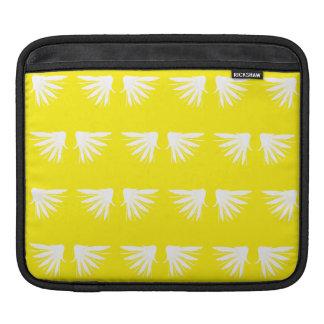 Wings White Yellow iPad Sleeves