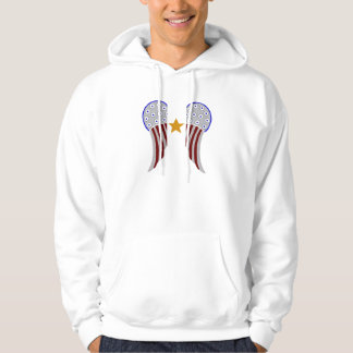 Wings with 1 Gold Star Hoodie