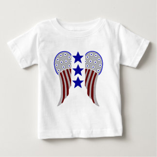 Wings with 3 Blue Stars Baby T-Shirt