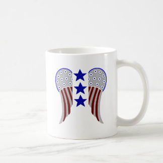 Wings with 3 Blue Stars Classic White Coffee Mug