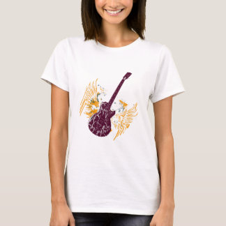 Wings-With-Guitar-(white) T-Shirt